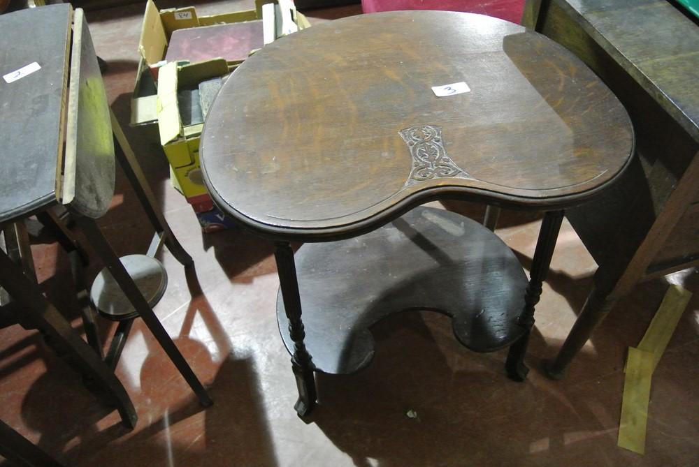 003.Mah. Kidney Shaped Side Table.